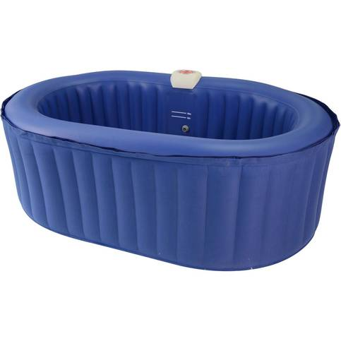 Spa Gonflable Ovale En Pvc 2 Places Bleu Spa Gonflable