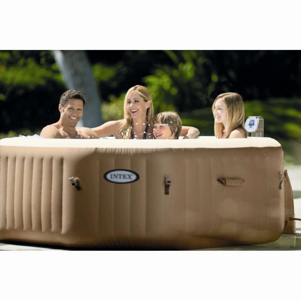 Spa Intex 6 Personnes Leroy Merlin spa gonflable à bulles intex octogonal 4 places beige - spa