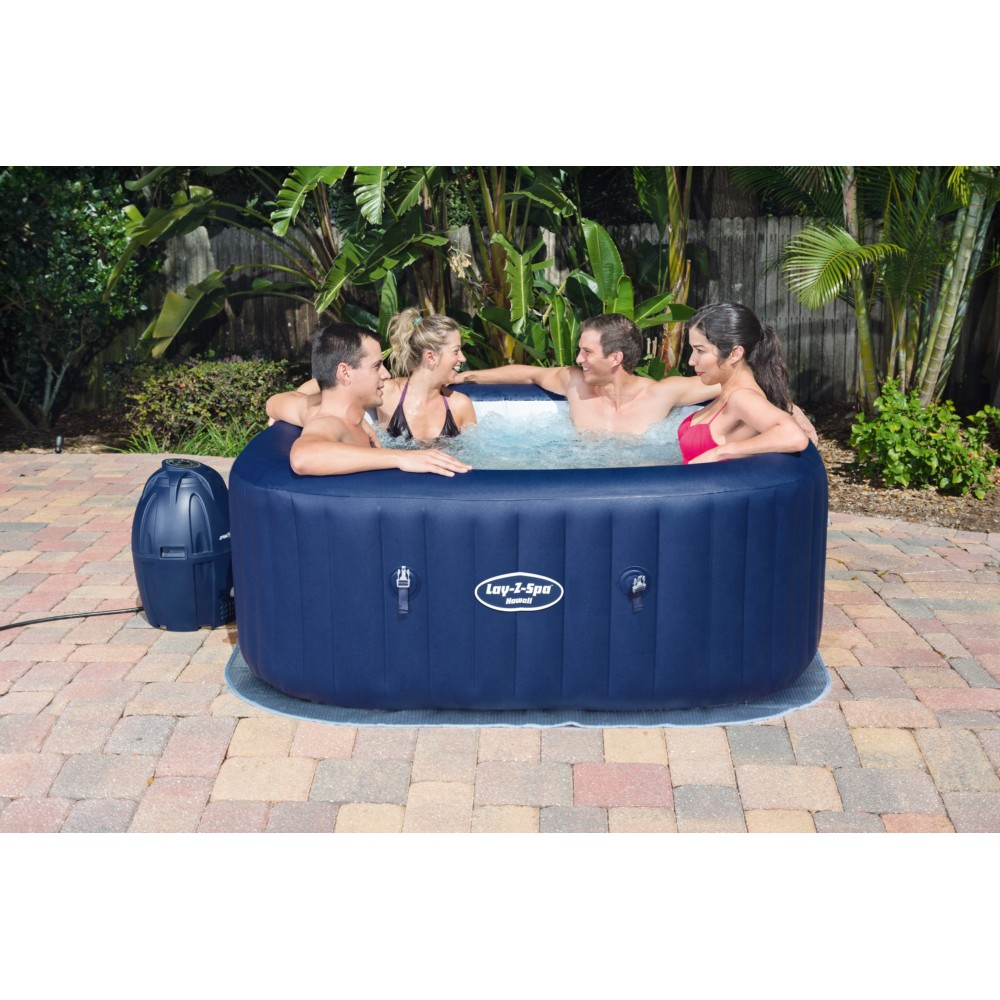Spa Intex 6 Personnes Leroy Merlin spa gonflable carré bestway lay-z-spa ™ airjet™ hawaii 4/6