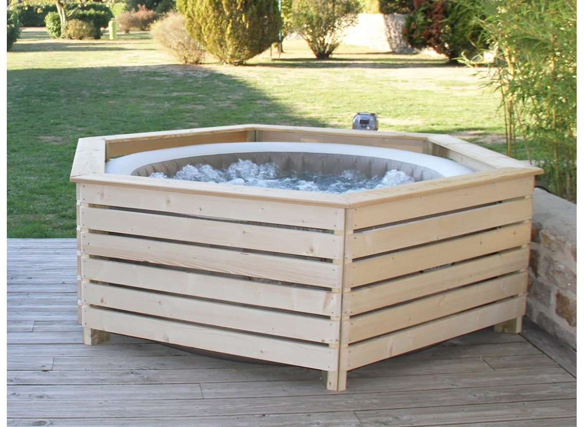 Spa Intex 6 Personnes Leroy Merlin entourage / habillage bois pour spa gonflable intex made in
