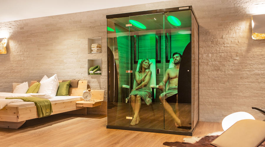 GAMME SAUNA CABINE INFRAROUGE BASSE TEMPERATURE PHYSIOTHERM