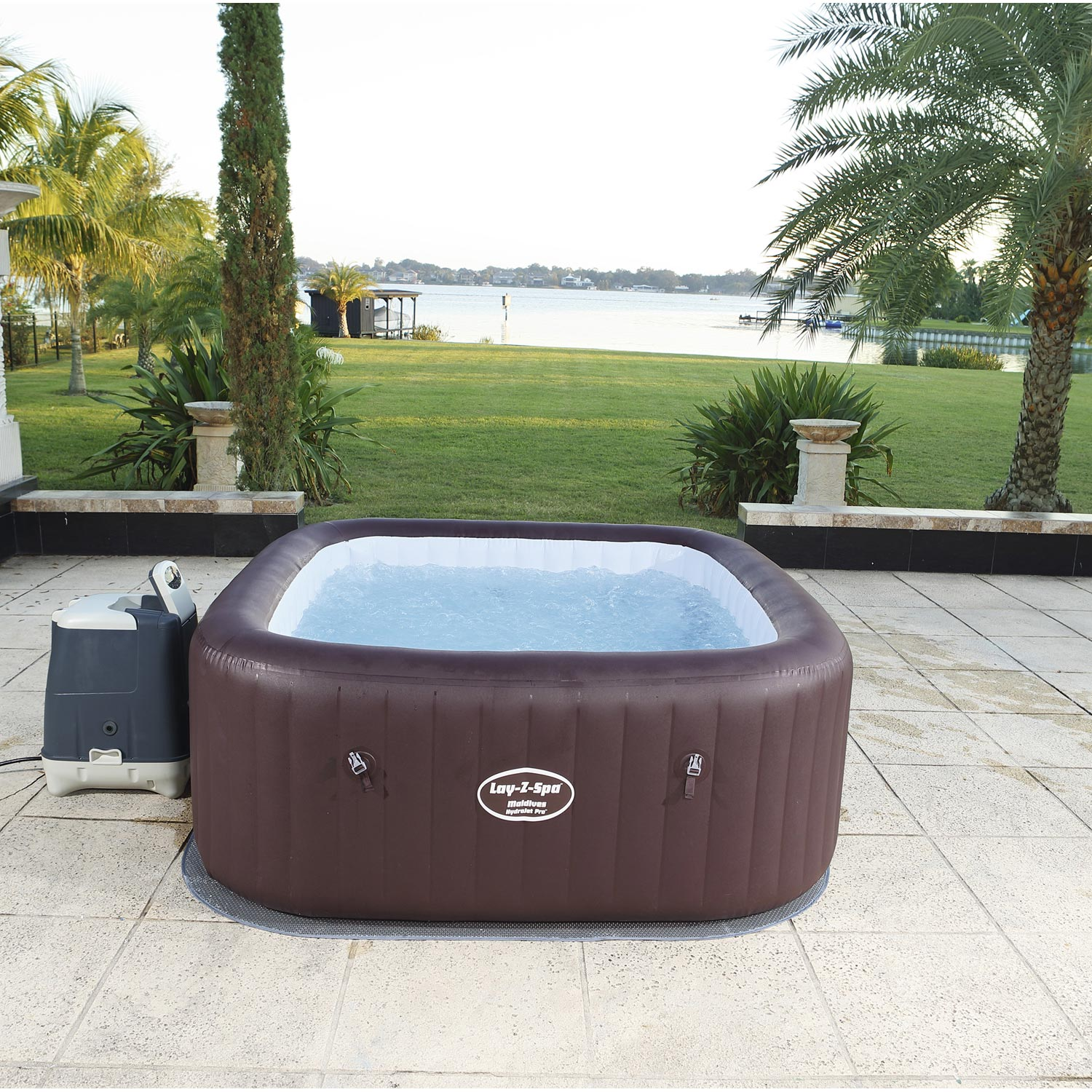 Leroy Merlin Spa Intex spa gonflable bestway lay-z maldives carré | leroy merlin