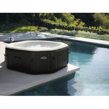 Spa gonflable INTEX Pure spa octogonale, 6 places assises